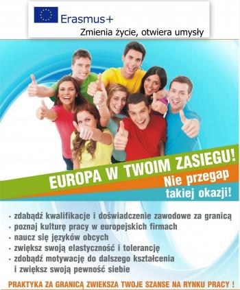 Plakat Erasmus Nowy