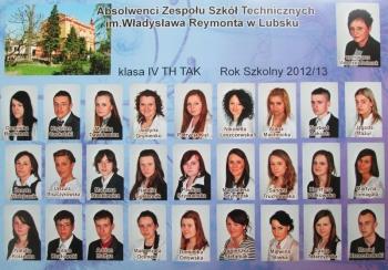 ROCZNIK 2012:13 IV Technikum Architektury Krajobrazu: Technikum Hotelarstwa
