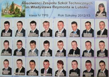 ROCZNIK 2012:13 IV Technikum Pojazdów Samochodowych