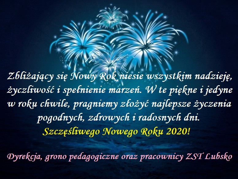 Szczęśliwego Nowego Roku 2020!