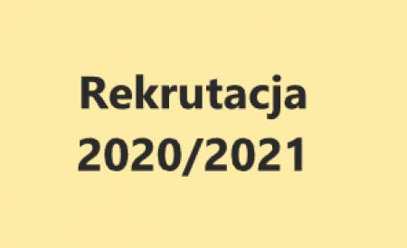 NOWE ZASADY REKRUTACJI 2020/2021