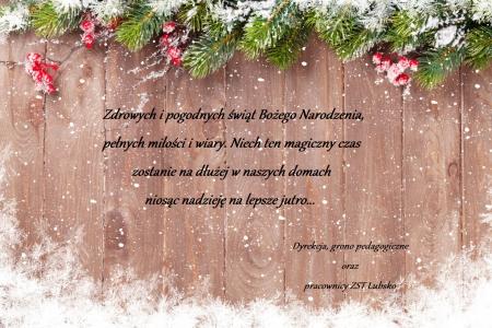 Życzenia świąteczne - Boże Narodzenie 2020
