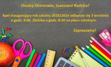 Nowy rok szkolny 2018/2019